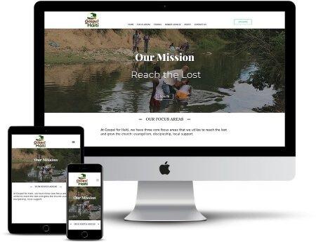 gospel for haiti missions church webdesign