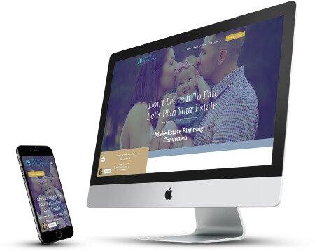 mobile estate planning attorney desktop and mobile webdesign
